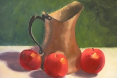 Pitcher with Apple