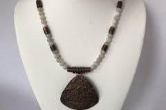 Necklace Reticulated Jeweler's Brass For sale price $85 Email: pammclean.p@gmail.com