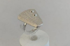 Cast Sterling Silver Ring For sale price size 8.25 $95 Email: pammclean.p@gmail.com