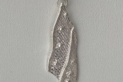 Cast Sterling Silver Feather Pendant For sale price $65. Email: pammclean.p@gmail.com